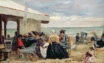 A Beach Scene by Eugene Louis Boudin
