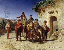 A Gypsy Family on the Road von Achille Zo