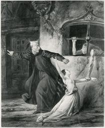 Sachette, Esmeralda and Claude Frollo by Louis Boulanger