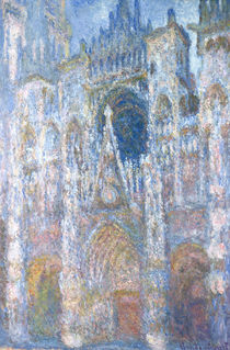 Rouen Cathedral, Blue Harmony by Claude Monet