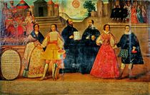 Double wedding between two Inca women and two Spaniards in 1558 by Spanish School
