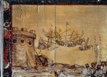 Cortes sails for Mexico, 1518 by Spanish School