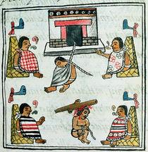 Ms. Palat. 218-220 Book IX Judgement and Punishment in the Aztec empire von Spanish School
