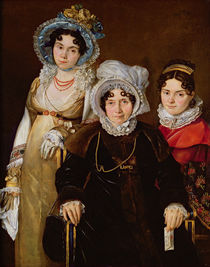 Portrait of Madame de Tangry and her Daughters by French School