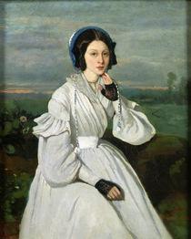 Portrait of Louise Claire Sennegon von Jean Baptiste Camille Corot