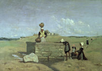 Breton Women at the Well near Batz by Jean Baptiste Camille Corot