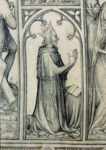 The Parement of Narbonne, detail of Charles V praying by French School