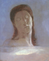 The Closed Eyes, 1890 by Odilon Redon