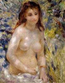 Study. Torso, effect of sunlight by Pierre-Auguste Renoir