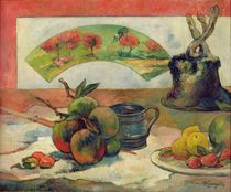 Still Life with a Fan, c.1889 by Paul Gauguin