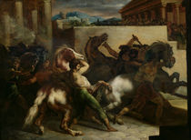 The Wild Horse Race at Rome von Theodore Gericault