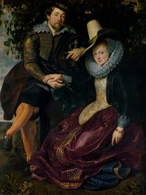 Self portrait with Isabella Brandt von Peter Paul Rubens