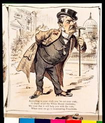 Caricature of Chester Alan Arthur by American School