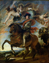 Equestrian portrait of King Philip IV of Spain c.1645 von Peter Paul Rubens