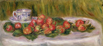 Still Life of Strawberries and a Tea-cup by Pierre-Auguste Renoir