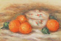 Still life with a covered dish and Oranges by Pierre-Auguste Renoir