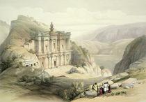 El Deir, Petra, March 8th 1839 by David Roberts
