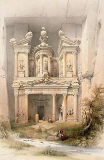 Petra, March 7th 1839, plate 92 from Volume III of 'The Holy Land' by David Roberts