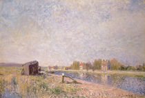 The Loing at Saint-Mammes, 1884 by Alfred Sisley