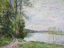 The Riverside Road from Veneux to Thomery von Alfred Sisley