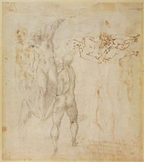 Male group and seated figure with child by Michelangelo Buonarroti