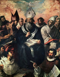 St. Basil Dictating his Doctrine by Francisco Herrera