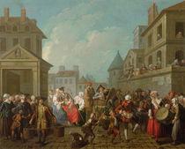 Street Carnival in Paris, 1757 by Etienne Jeaurat