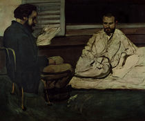 Paul Alexis Reading a Manuscript to Emile Zola 1869-70 von Paul Cezanne