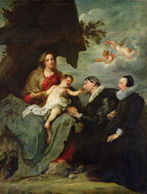 Madonna and Child with Donors von Anthony van Dyck