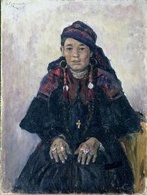 Portrait of a Cossack Woman by Vasilij Ivanovic Surikov