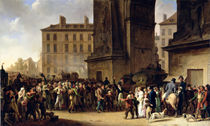 The Conscripts of 1807 Marching Past the Gate of Saint-Denis von Louis Leopold Boilly