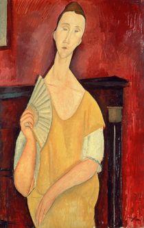 Woman with a Fan 1919 by Amedeo Modigliani