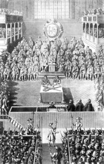 Charles I before the High Court of Justice at Whitehall by English School