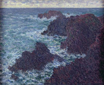 The Rocks at Belle-Ile, the Wild Coast by Claude Monet