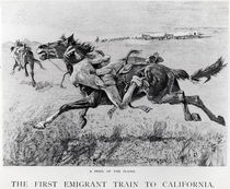 A Peril of the Plains, the First Emigrant Train to California by Frederic Remington