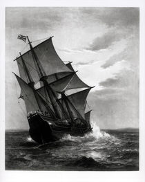 The Mayflower, engraved and pub. by John A. Lowell by Marshall Johnson