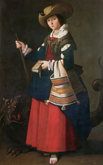 Saint Margaret of Antioch, 1630-34 von Francisco de Zurbaran