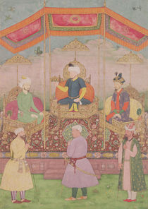 Mughal Emperor Babur and his son by Dip Chand