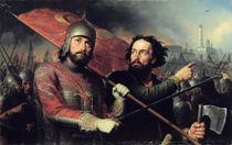 The National Uprising of Kuzma Minin and Count Dmitry Pozharsky 1850 by Michail Ivanovich Skotti