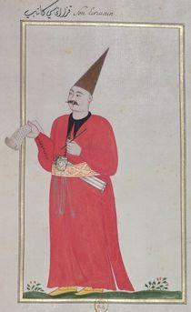 A Writer, from 'Costumes de la Cour et de la Ville de Constantinople' by Turkish School