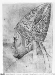 Head of a bishop, from the The Vallardi Album by Antonio Pisanello