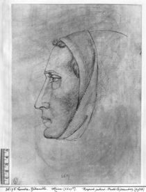 Head of a monk, from the The Vallardi Album von Antonio Pisanello