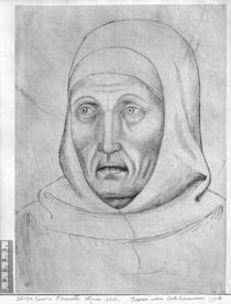 Head of a monk, from the The Vallardi Album by Antonio Pisanello
