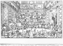 Cabinet of physics, 1687 von Sebastien I Le Clerc