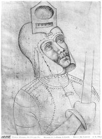 Soldier wearing a visored helmet by Antonio Pisanello