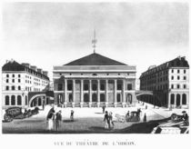 The Theatre de l'Odeon, c.1830 by French School