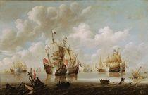Naval Battle von Willem van de, the Younger Velde