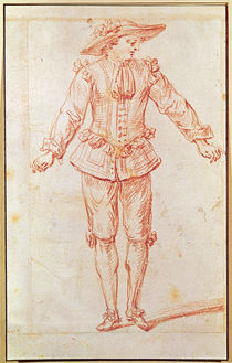 A Dancer from the Paris Opera von Jean Antoine Watteau