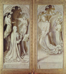 The Annunciation, from the Bourbon Altarpiece by Master of Moulins