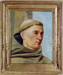 Head of a Monk by Jean Fouquet